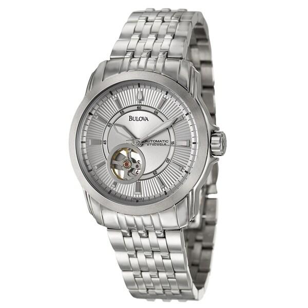 Bulova Men's 'Mechanical' Stainless Steel Watch