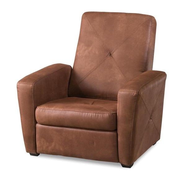 Rustic Brown Microfiber Foldable Gaming Chair