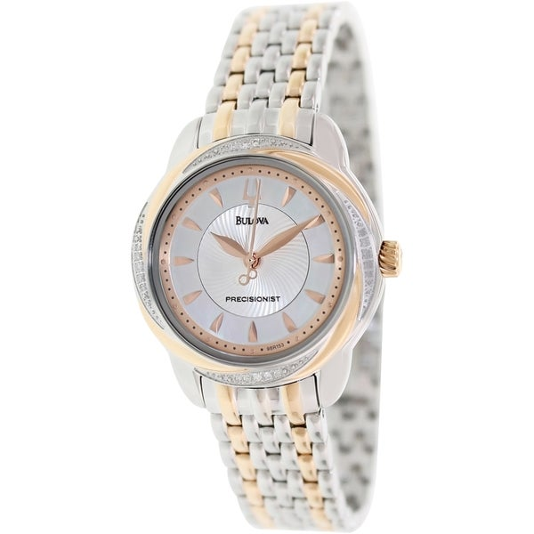Bulova Women's 98R153 'Precisionist' Stainless Steel/ Rose Gold-plated Watch