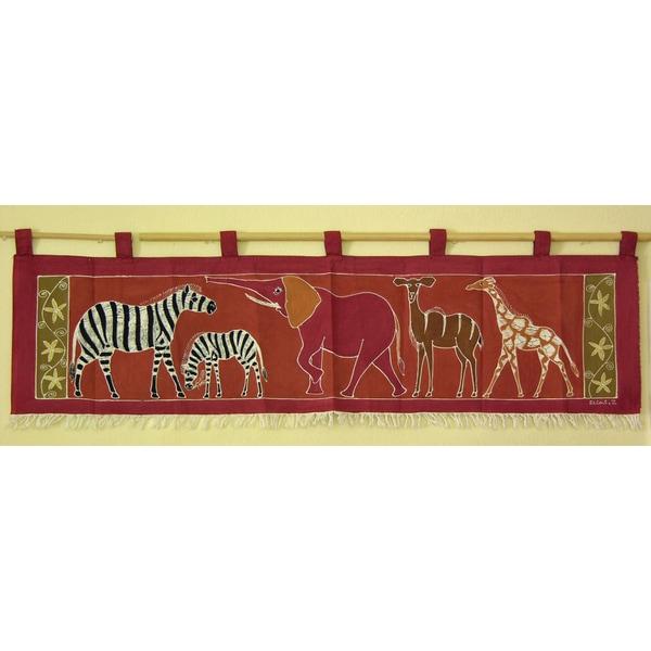 Handpainted Horizontal African Tapestry (Zambia)