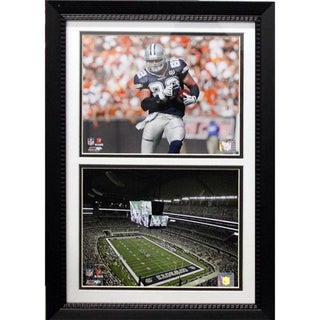 Encore Select Jason Witten Dallas Cowboys Stadium Custom Framed Double Print (12 x 18)