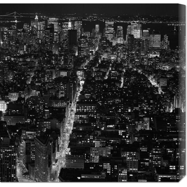 Global Gallery Philippe Levy-Stab 'Manhattan by Night' Stretched Canvas