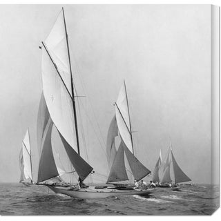Big Canvas Co. Edwin Levick 'Sailboats Sailing Downwind, 1920' Stretched Canvas Art