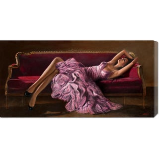 Global Gallery, John Silver 'Jasmine' Stretched Canvas Art