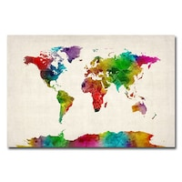 Shop michael tompsett urban watercolor world map canvas art free michael tompsett watercolor world map ii canvas art gumiabroncs Image collections