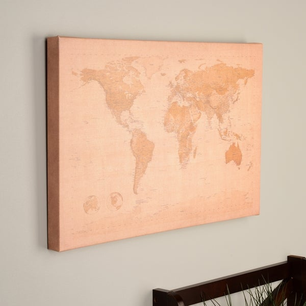 Shop michael tompsett antique world map canvas art free shipping michael tompsett x27antique world mapx27 canvas art publicscrutiny Choice Image