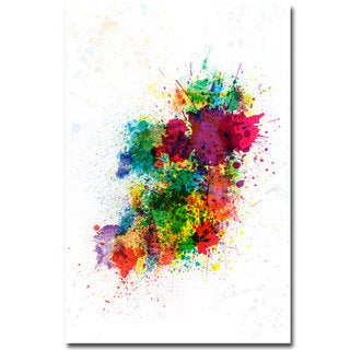Michael Tompsett 'Ireland Paint Splashes' Canvas Art