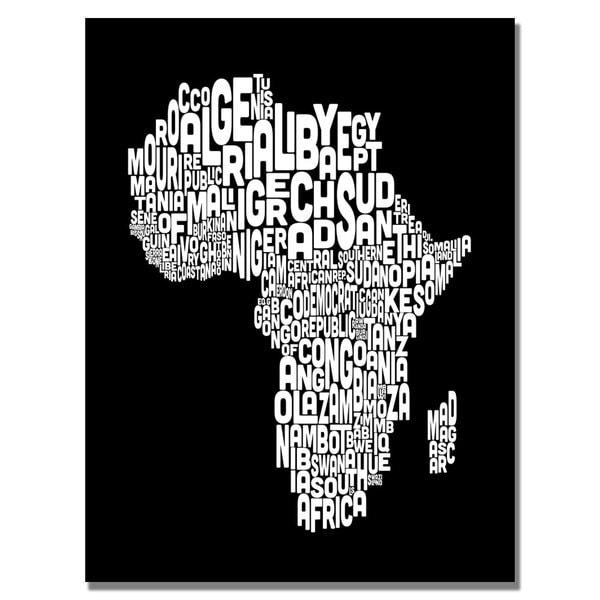 shop michael tompsett africa font map canvas art black white