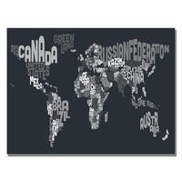 Michael Tompsett 'Font World Map VII' Canvas Art - Multi