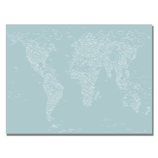 Michael Tompsett 'Font World Map V' Canvas Art