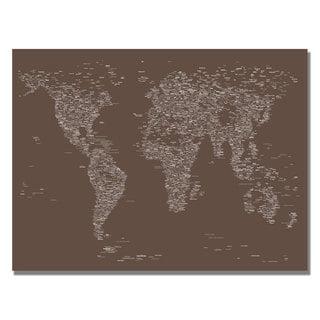 Michael Tompsett 'Font World Map IV' Canvas Art