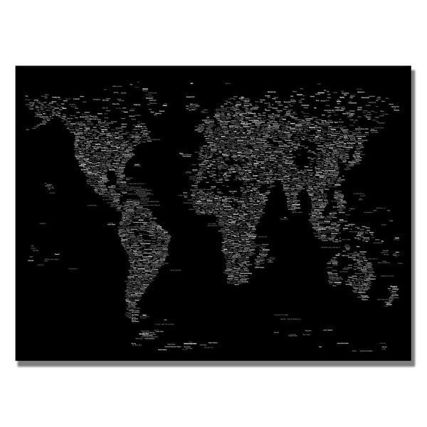 Michael Tompsett 'Font World Map III' Canvas Art