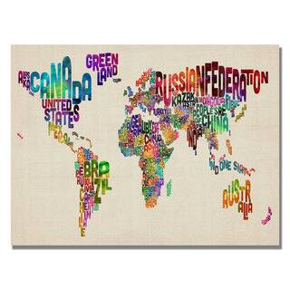 Michael Tompsett 'Typography World Map II' Canvas Art|https://ak1.ostkcdn.com/images/products/7569650/7569650/Michael-Tompsett-Typography-World-Map-II-Canvas-Art-P14999112.jpeg?impolicy=medium