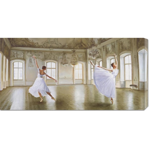 Global Gallery Pierre Benson 'Le Grand Salon' Stretched Canvas Art