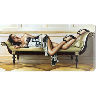 Big Canvas Co. Pierre Benson 'Deco Lady' Stretched Canvas Art