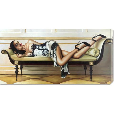 Global Gallery Pierre Benson 'Deco Lady' Stretched Canvas Art - Multi