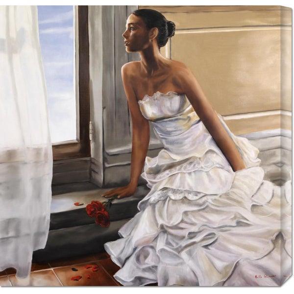 Global Gallery Emilio Ciccone 'Innamorata' Stretched Canvas Art
