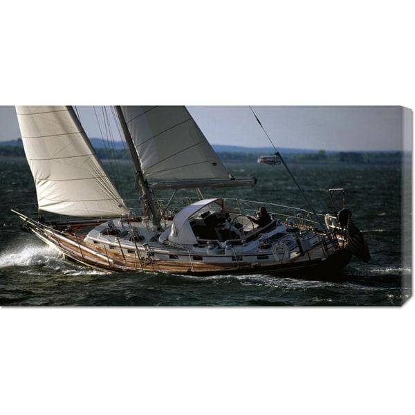 Global Gallery Onne Van Der Wal 'Sailing in Narragansett Bay' Stretched Canvas Art