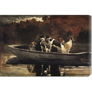 Global Gallery Winslow Homer 'Waiting For The Start' Stretched Canvas Art
