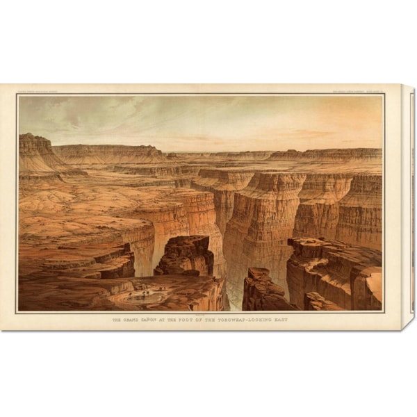 Global Gallery William Henry Holmes 'Grand Canyon - Foot of the Toroweap looking East, 1882' Stretched Canvas Art