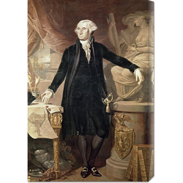 Global Gallery Jose Perovani 'George Washington' Stretched Canvas Art