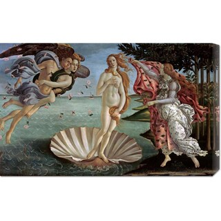 Global Gallery Sandro Botticelli 'The Birth of Venus' Stretched Canvas Art