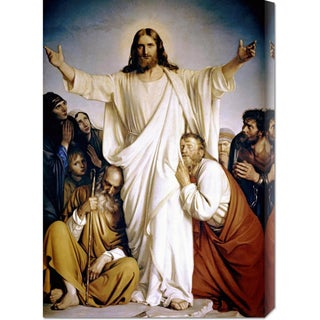 Global Gallery Carl Bloch 'Christ the Consoler' Stretched Canvas Art