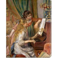 Global Gallery Pierre Auguste Renoir 'Two Young Girls at the Piano' Stretched Canvas Art