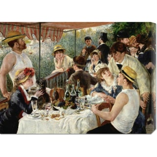 Global Gallery Pierre Auguste Renoir 'Luncheon of the Boating Party' Stretched Canvas Art