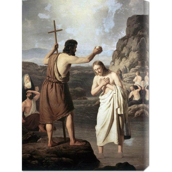 Big Canvas Co. Johan Peter Raadsig 'Baptism of Jesus' Stretched Canvas Art