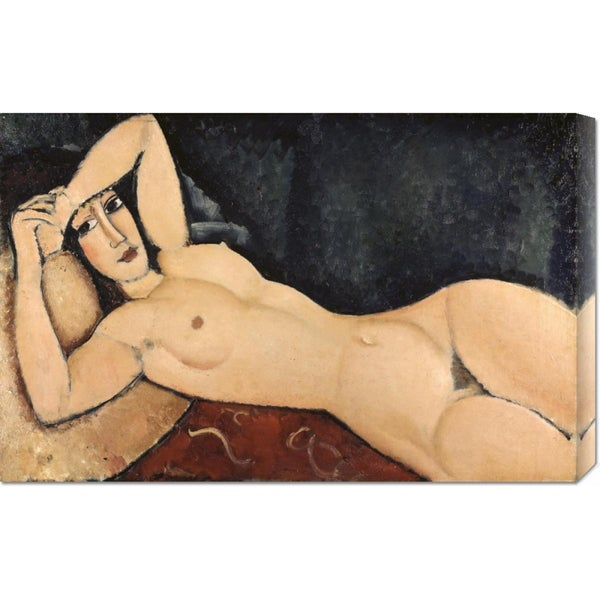 Global Gallery Amedeo Modigliani 'Reclining Nude' Stretched Canvas Art