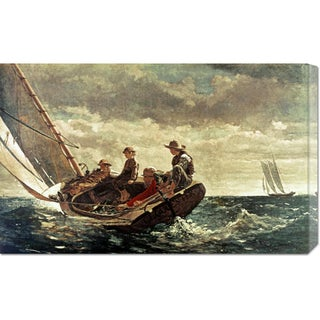 Global Gallery Winslow Homer 'Breezing Up' Stretched Canvas Art