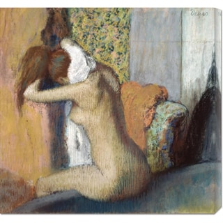 Global Gallery, Edgar Degas 'After the Bath' Stretched Canvas Art