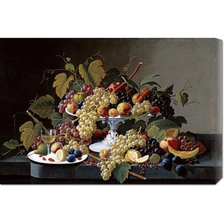 Big Canvas Co. Severin Roesen 'Still Life With a Milk Glass Compote' Stretched Canvas Art