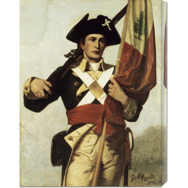 Global Gallery George Willoughby Maynard 'Soldier of The Revolution' Stretched Canvas Art