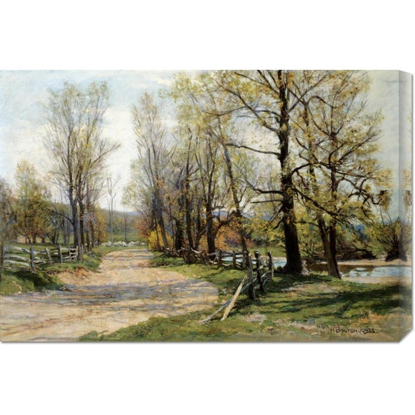 Global Gallery Hugh Bolton Jones 'The Country Lane' Stretched Canvas Art