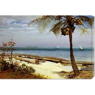 Global Gallery Albert Bierstadt 'Tropical Coast' Stretched Canvas Art