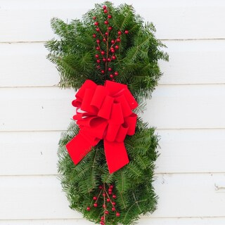Fresh Minnesota Balsam Fir Vertical Door Swags (Set of 2)