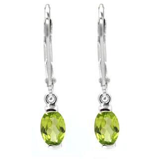 De Buman Sterling Silver Genuine Peridot, Citrine or Moonstone Gemstone Earrings|https://ak1.ostkcdn.com/images/products/7569839/P14999288.jpg?impolicy=medium
