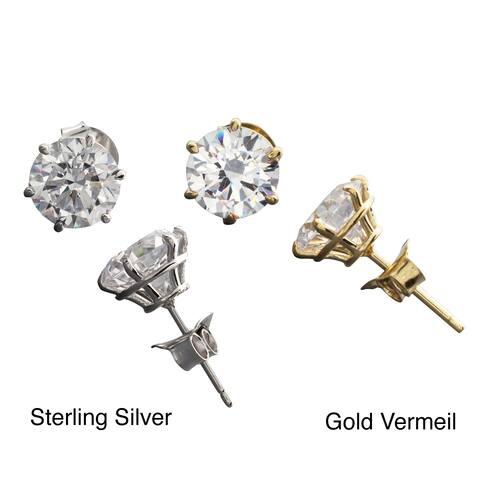 NEXTE Jewelry Sterling Silver Cubic Zirconia Martini Stud Earrings
