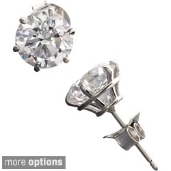 NEXTE Jewelry Sterling Silver Cubic Zirconia Martini Stud Earrings