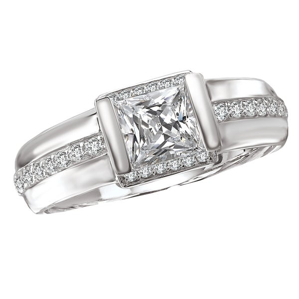 Avanti 14k White Gold 1/5ct TDW Diamond Semi-mount Engagement Ring (G-H, SI1-SI2)
