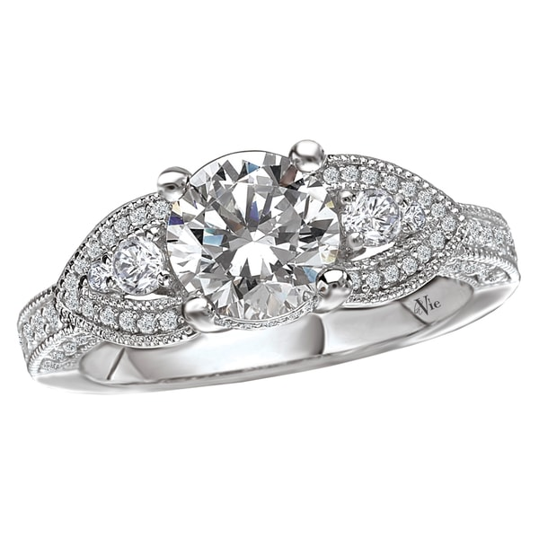 Avanti 14k White Gold 1/2ct TDW Diamond Semi-mount Engagement Ring (G-H, SI1-SI2)