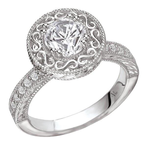 Avanti 14k Gold 1/5ct TDW Diamond Semi-mount Halo Engagement Ring (G-H, SI1-SI2)