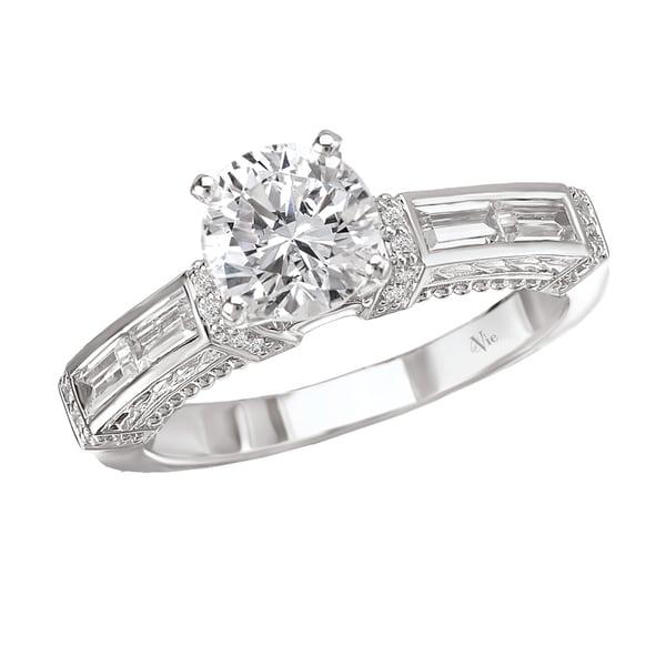 Avanti 14k White Gold 3/5ct TDW Diamond Semi-mount Engagement Ring (G-H, SI1-SI2)