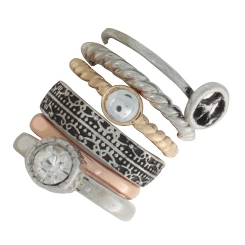 NEXTE Jewelry Multi-tone Assorted Rings (Set of 6)
