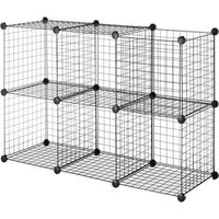 Honey-Can-Do 6 Pack Modular Mesh Storage Black Cube - Free ...
