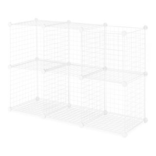 Whitmor Wire Storage Cubes, Set of 6