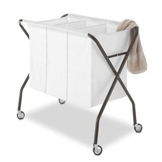 Whitmor 6717-569-ESPR Espresso 3 Compartment Laundry Sorter Deluxe