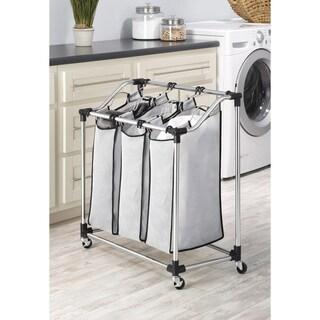 Whitmor 6862-3260 Chrome Mesh 3-Bag Laundry Sorter